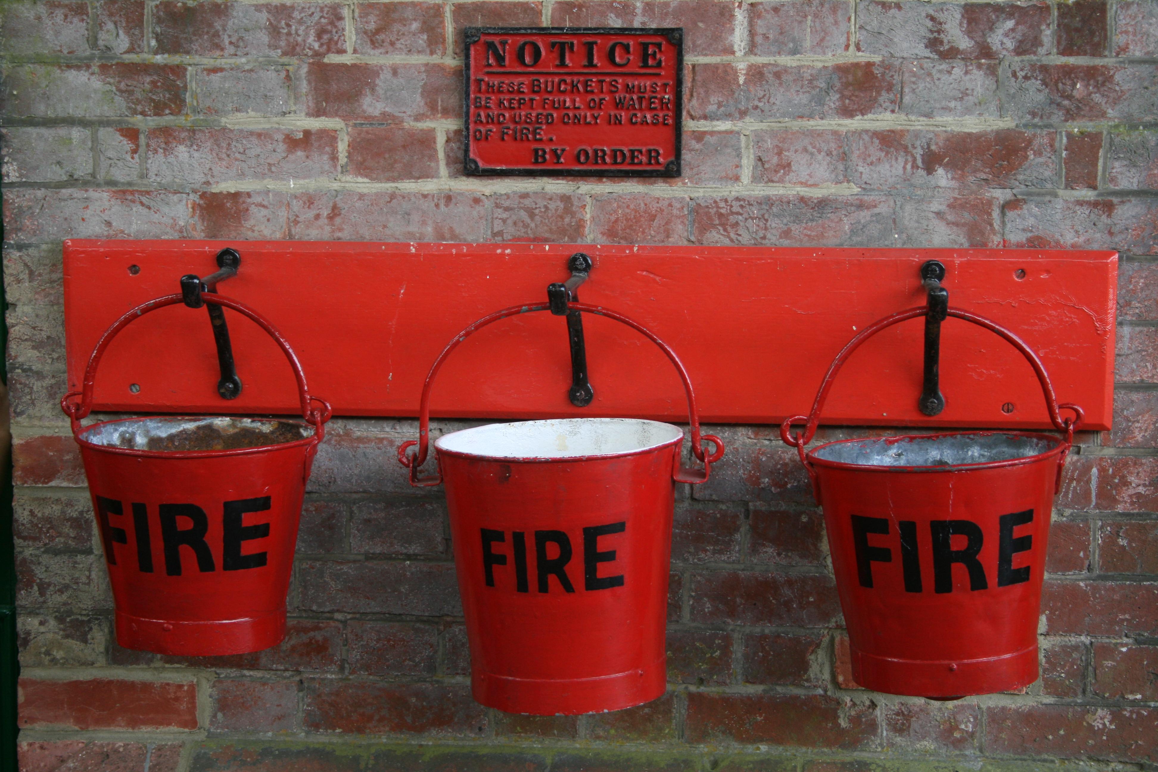 Fire buckets